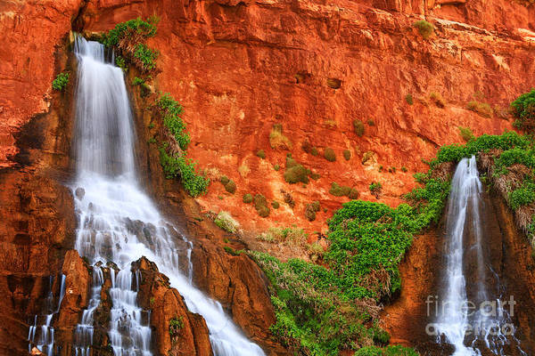 America Print featuring the photograph Vaseys Paradise Twin Falls by Inge Johnsson