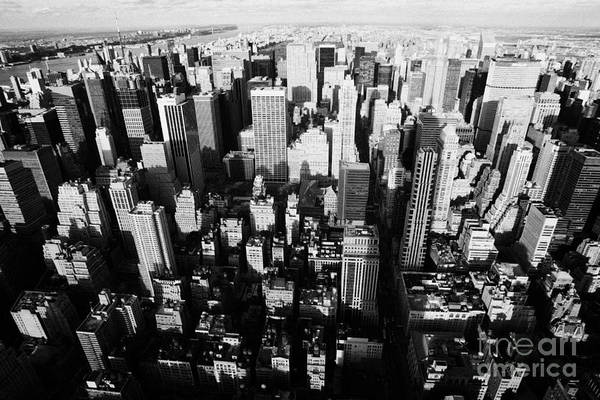 Usa Print featuring the photograph View North And Down Towards Central Park From Empire State Building by Joe Fox