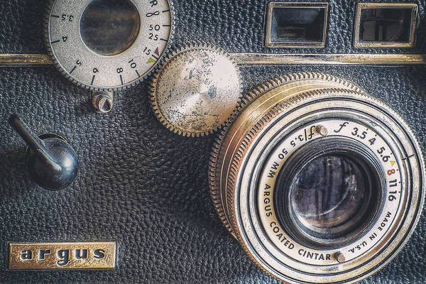 Camera Print featuring the photograph Vintage Argus C3 35mm Film Camera by Scott Norris