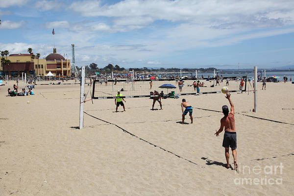 California Print featuring the photograph Volleyball At The Santa Cruz Beach Boardwalk California 5d23837 by Wingsdomain Art and Photography