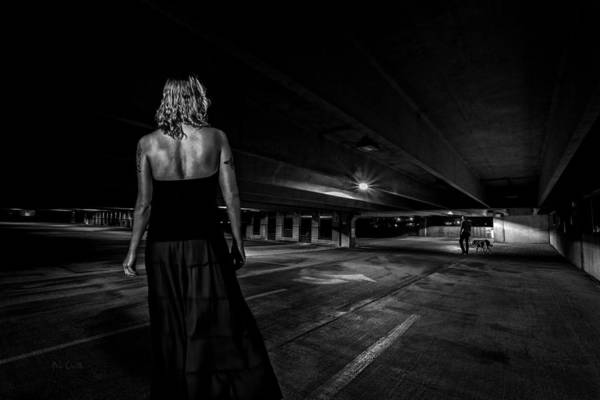 Afterdark Print featuring the photograph Walking The Dog by Bob Orsillo