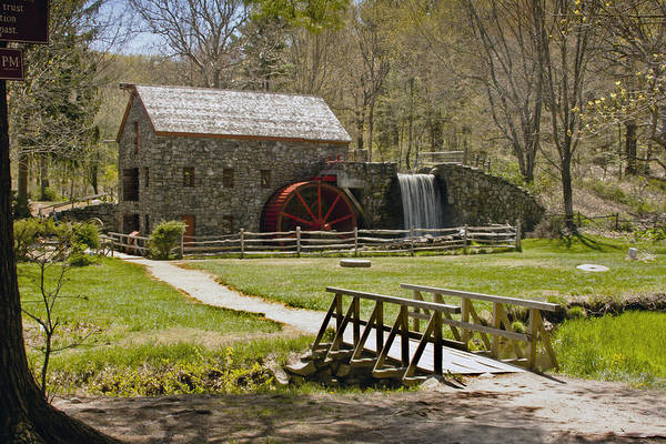 Wayside Grist Mill Print featuring the photograph Wayside Grist Mill 8 by Dennis Coates