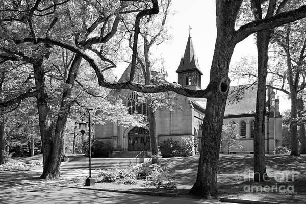 Houghton Chapel Print featuring the photograph Wellesley College Houghton Chapel by University Icons