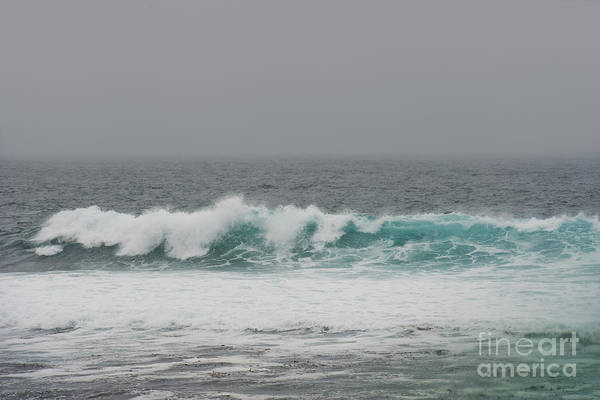 Waves Print featuring the photograph Winter Waves by Artist and Photographer Laura Wrede
