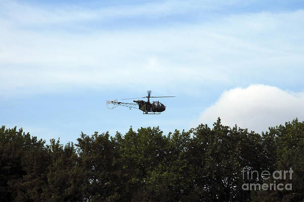 Air Component Print featuring the photograph Alouette II Of The Belgian Army by Luc De Jaeger