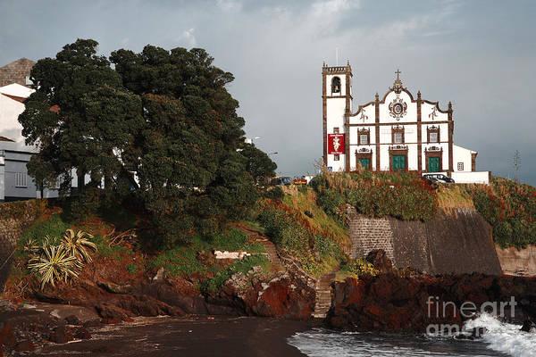 Church Print featuring the photograph Church By The Sea by Gaspar Avila