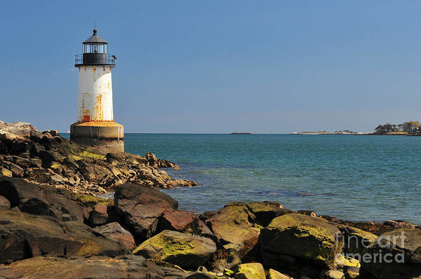 Salem Print featuring the photograph Fort Pickering Light by Catherine Reusch Daley