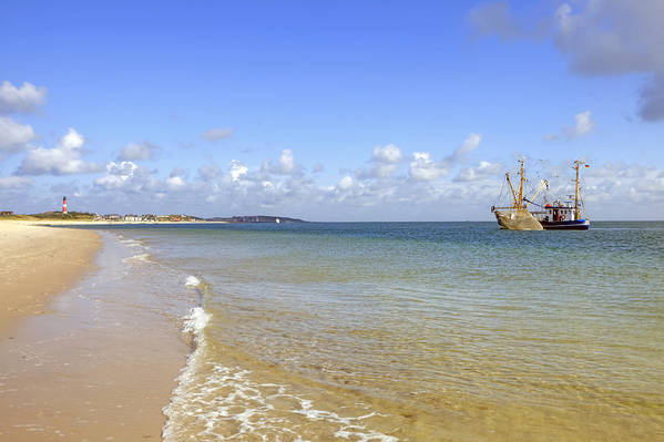 Fishing Boat Print featuring the photograph Hoernum - Sylt by Joana Kruse