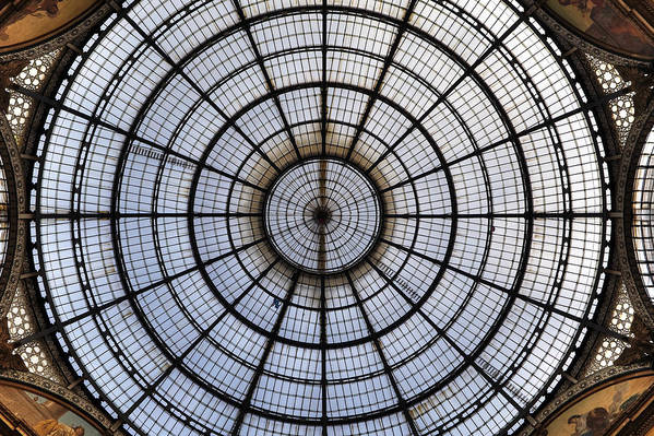 Glass Roof Print featuring the photograph Milan Galleria Vittorio Emanuele II by Joana Kruse