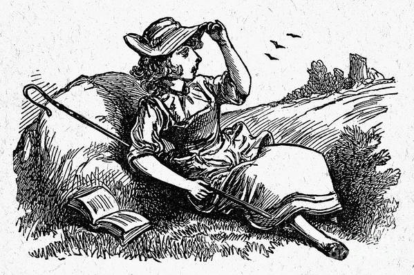 19th Century Print featuring the photograph Mother Goose: Bo-peep by Granger