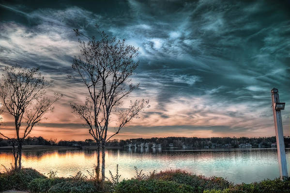 Sunset Print featuring the photograph Sunset Over Canebrake by Brenda Bryant