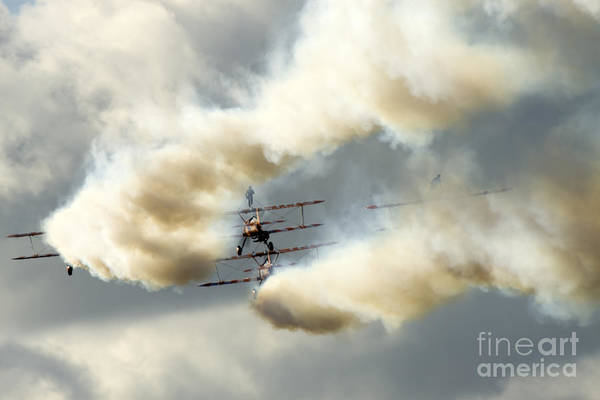 Airshow Print featuring the photograph The Ballet Under The Skies by Angel Tarantella