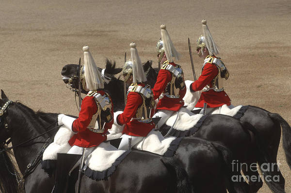 Horse Guards Parade Print featuring the photograph The Household Cavalry Performs by Andrew Chittock