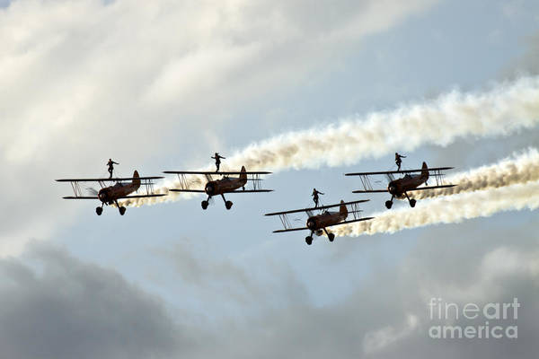 Airshow Print featuring the photograph Wingwalkers by Angel Tarantella