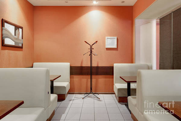 Art Print featuring the photograph Cafe Dining Room by Magomed Magomedagaev