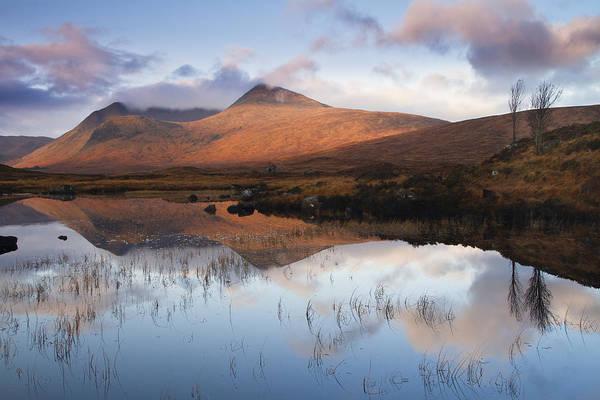 Highland Print featuring the photograph Rannoch Moor At Sunrise by Gabor Pozsgai