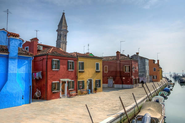 Architecture Print featuring the photograph Burano - Venice - Italy by Joana Kruse