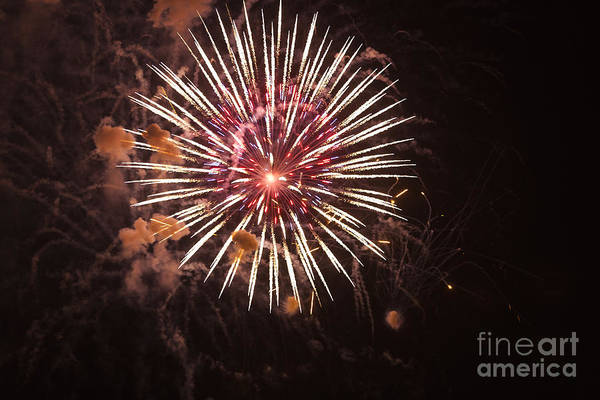 4th Of July Print featuring the photograph Fireworks by Juan Silva