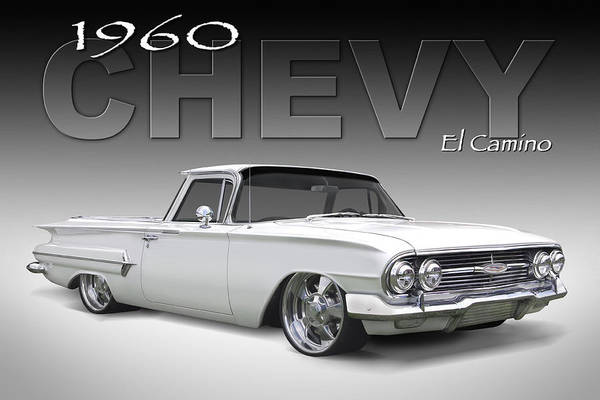 1960 Chevy El Camino Print featuring the photograph 60 Chevy El Camino by Mike McGlothlen