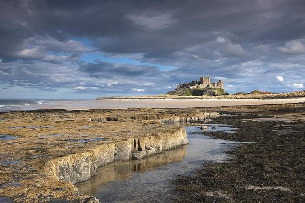 Northumberland Print featuring the photograph A View Of Bamburgh Castle Bamburgh by John Short