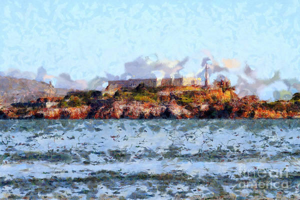 San Francisco Print featuring the photograph Alcatraz Island In San Francisco California . 7d14031 by Wingsdomain Art and Photography