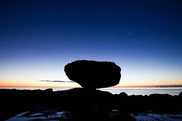 Balancing Rock Print featuring the photograph Balancing Rock Sunrise by Brandon Broderick