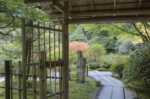 Mood Print featuring the photograph Bamboo Gate And Traditional Arch by Douglas Orton