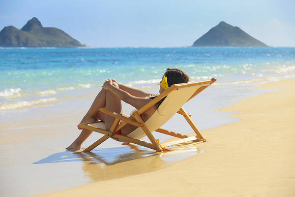 Attractive Print featuring the photograph Beach Lounger II by Tomas del Amo