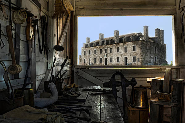 Old Fort Niagara Print featuring the photograph Blacksmith Shed by Peter Chilelli