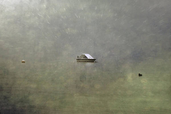 Boat Print featuring the photograph Boat In The Snow by Joana Kruse