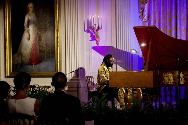 History Print featuring the photograph Concert Pianist Awadagin Pratt Performs by Everett