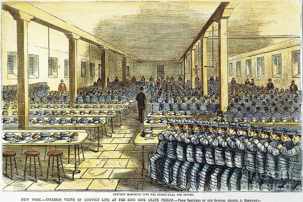 1878 Print featuring the photograph Dinner At Sing Sing, C1878 by Granger