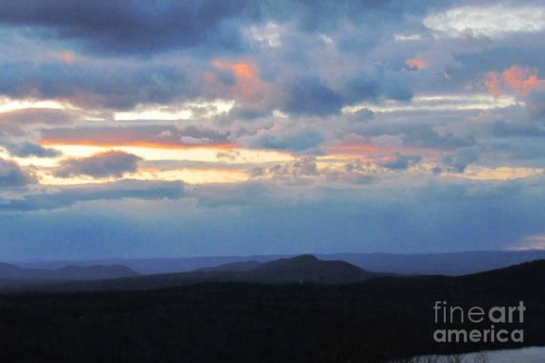 Sunset Print featuring the photograph Evening Sky Over The Quabbin by Randi Shenkman