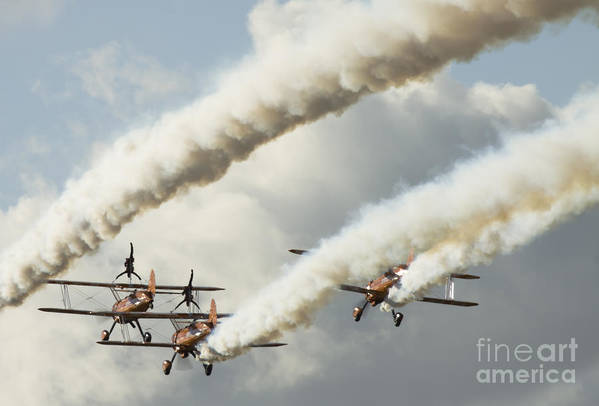 Airshow Print featuring the photograph Flying Ballet Dancers by Angel Tarantella
