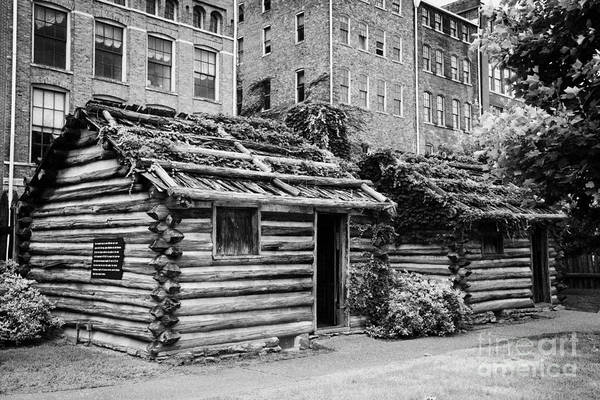Fort Print featuring the photograph fort nashborough stockade recreation Nashville Tennessee USA by Joe Fox