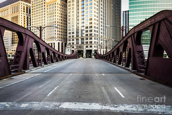 America Print featuring the photograph Franklin Orleans Street Bridge Chicago Loop by Paul Velgos