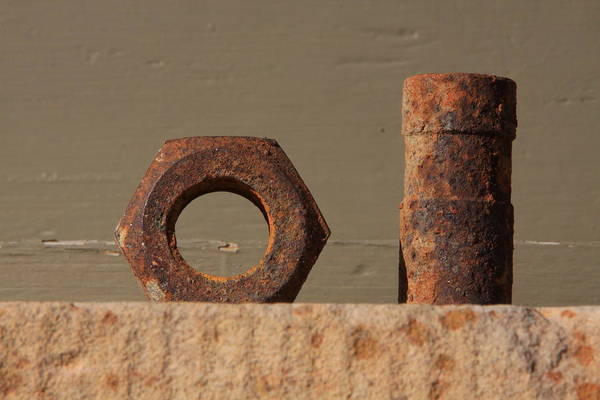 Historic Print featuring the photograph Geometry In Rust by Cynthia Cox Cottam