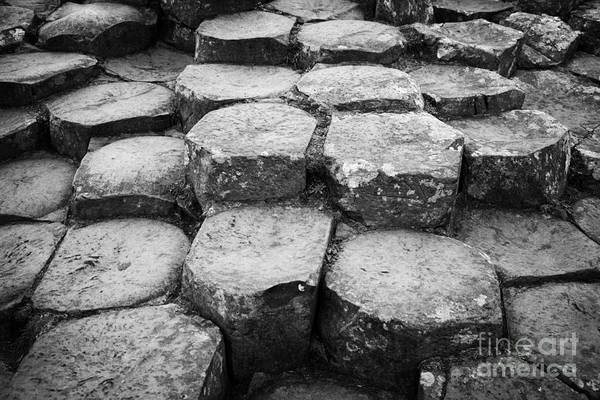 Northern Ireland Print featuring the photograph Giants Causeway Stones Northern Ireland by Joe Fox