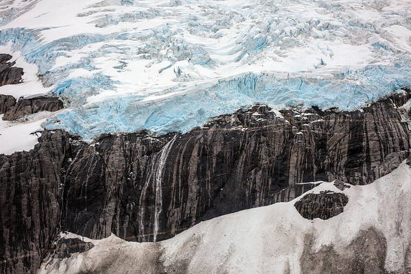 Frederick Sound Print featuring the photograph Glacial Edge Waterfall by Mike Reid