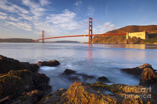 Golden Gate Print featuring the photograph Golden Gate At Dawn by Brian Jannsen