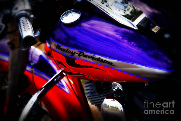 Harley Print featuring the photograph Harley Addiction by Susanne Van Hulst