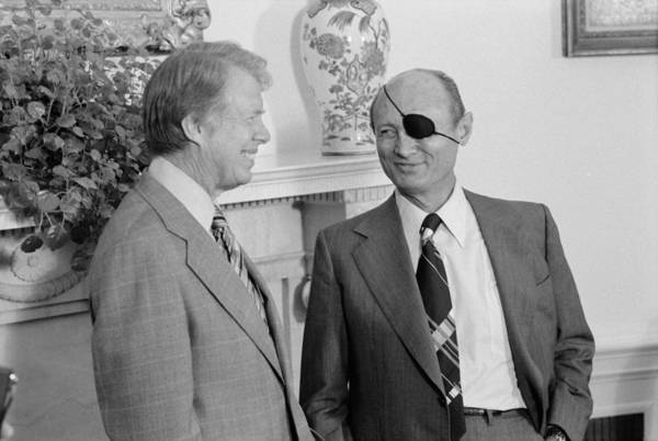 History Print featuring the photograph Jimmy Carter With Israeli Foreign by Everett
