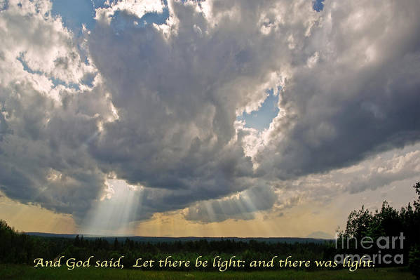 Landscape Print featuring the photograph Let There Be Light by John Stephens