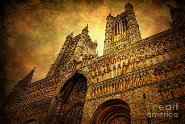 Yhun Suarez Print featuring the photograph Lincoln Cathedral by Yhun Suarez