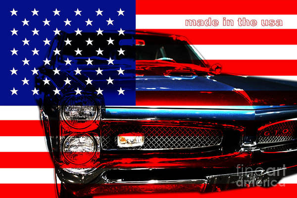 Transportation Print featuring the photograph Made In The Usa . Pontiac Gto by Wingsdomain Art and Photography