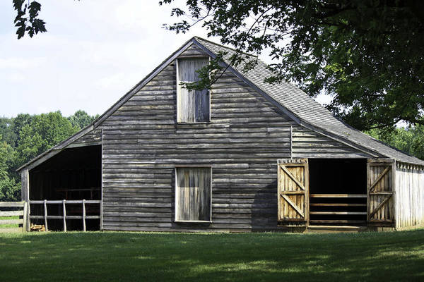 Appomattox Print featuring the photograph Meeks Stable by Teresa Mucha