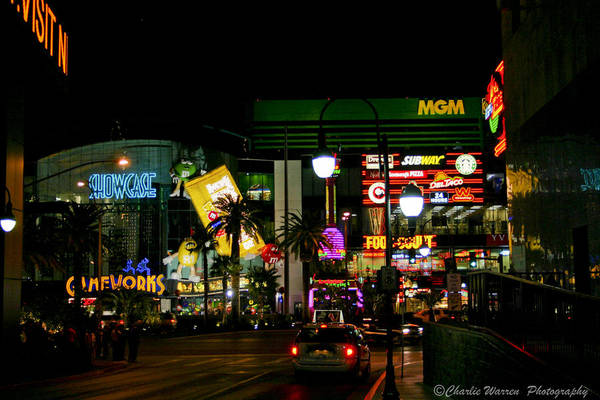 Las Vegas Print featuring the photograph MGM by Charles Warren