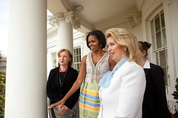 History Print featuring the photograph Michelle Obama Hosts First Lady by Everett