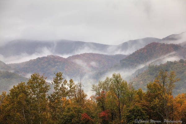 Great Smoky Mountains Print featuring the photograph Misty Morning I by Charles Warren