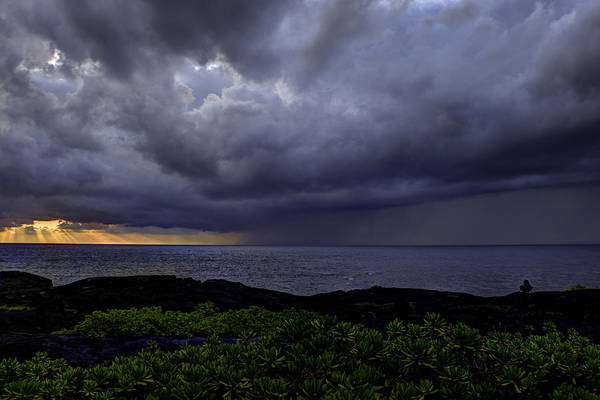 Sunrise Print featuring the photograph Morning Squall by Mike Herdering